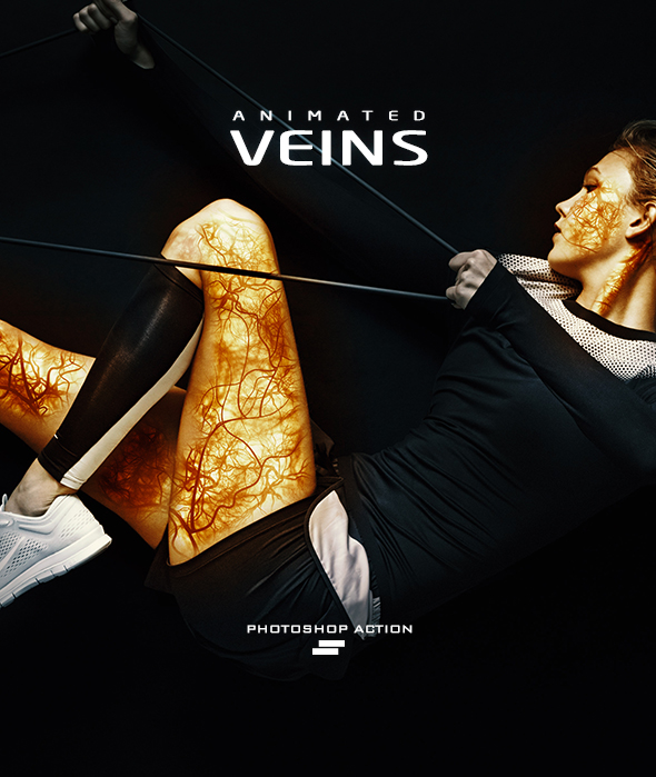 Gif Animated Veins Photoshop Action - Photo Effects Actions