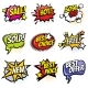 Comic Speech Bubbles with Promo Words. Discount
