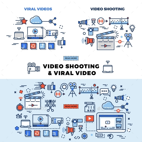 Viral Video and Video Shooting Information Page - Miscellaneous Vectors