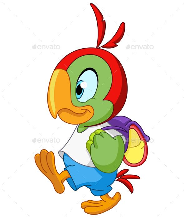 School Parrot - Animals Characters