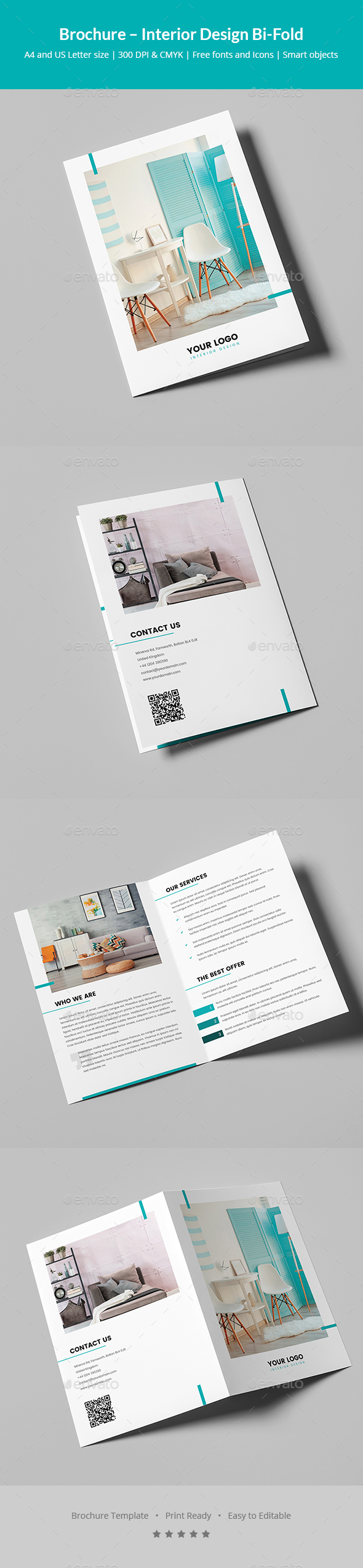Brochure – Interior Design Bi-Fold - Corporate Brochures