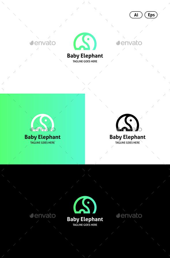 GraphicRiver Elephant Logo 20456339