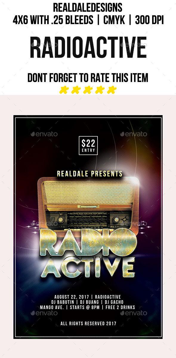 Radio Active - Events Flyers