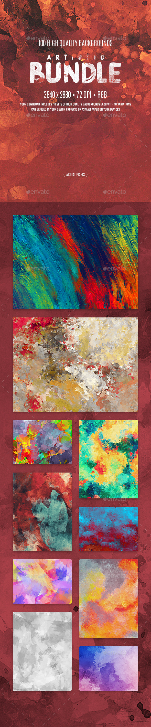 GraphicRiver Artistic Background Bundle 20006145