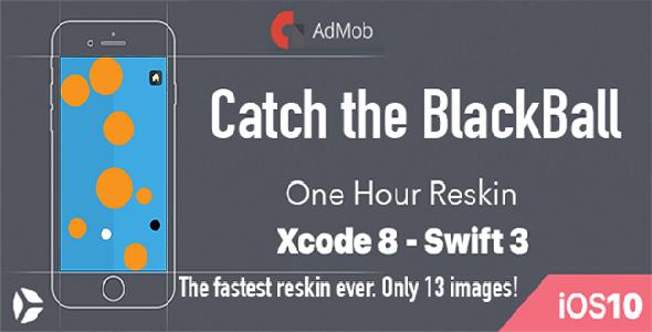 Catch The Black Ball – One Hour Reskin – iOS 10 and Swift 3 ready