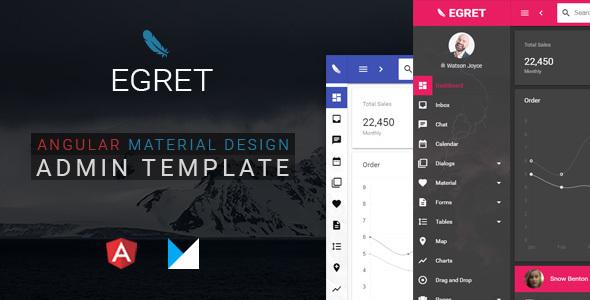 Egret - Angular 4 Material Design Admin Template