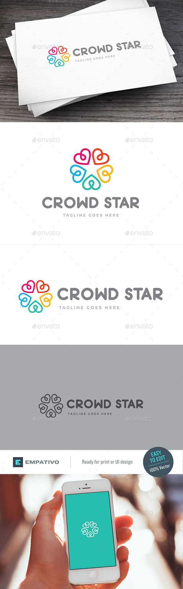 Crowd Star Logo Template - Symbols Logo Templates
