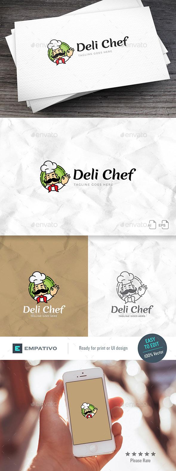 Deli Chef Logo Template - Food Logo Templates