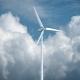 Wind Power Generators on Sky Background.