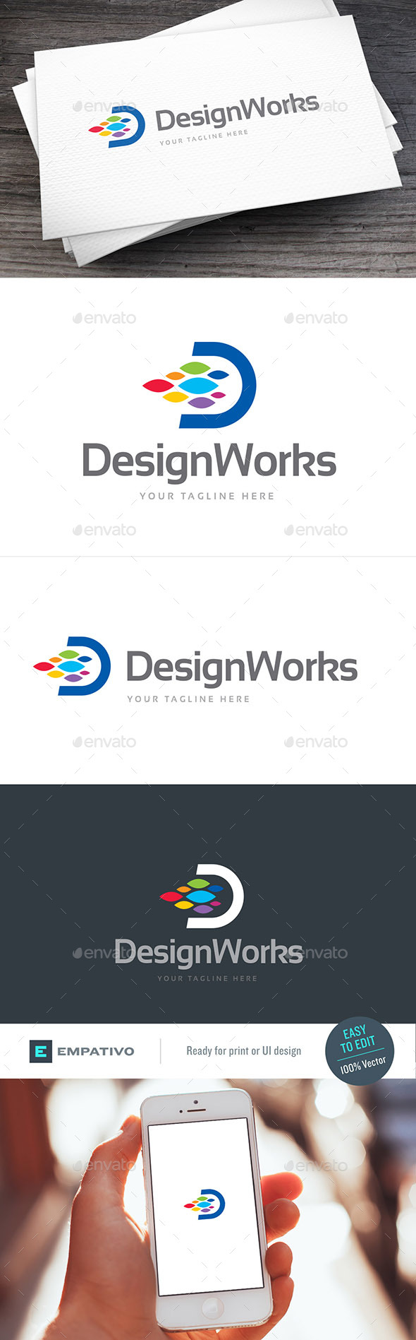 Design Works Logo Template - Letters Logo Templates