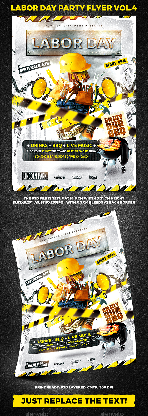 Labor Day Party Flyer vol.4 - Holidays Events