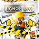 Labor Day Party Flyer vol.4