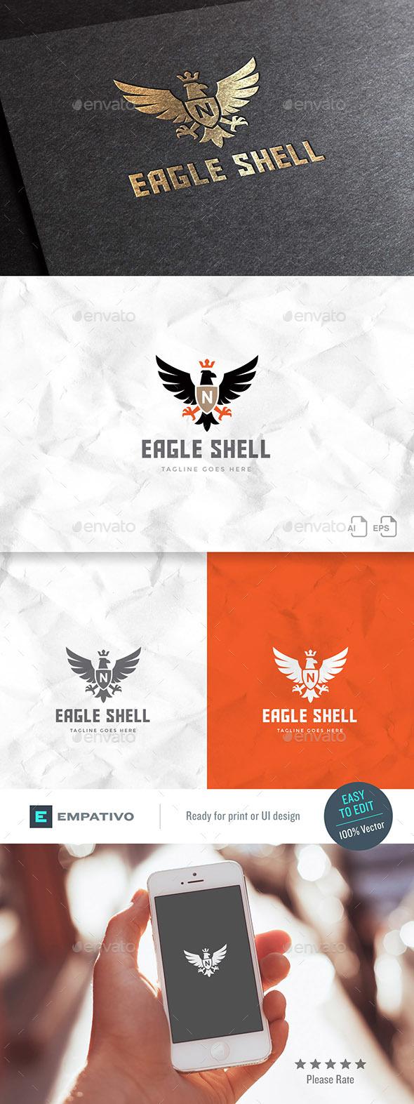 Eagle Shell Logo Template - Animals Logo Templates