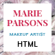 Makeup Artist - Art HTML Template with Page Builder and Dashboard pages
