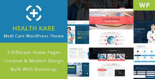 HEALTH KARE - Professional Medi Care WordPress Theme - Business Corporate