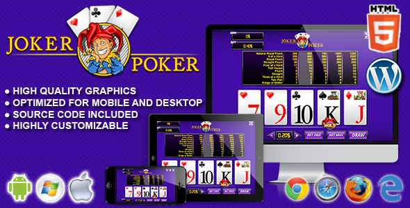 Joker Poker - HTML5 Casino Game - CodeCanyon Item for Sale