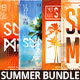 Summer Bundle Flyers And Posters 4in1 - GraphicRiver Item for Sale