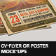 CV-Flyer Or Poster Mock-Ups
