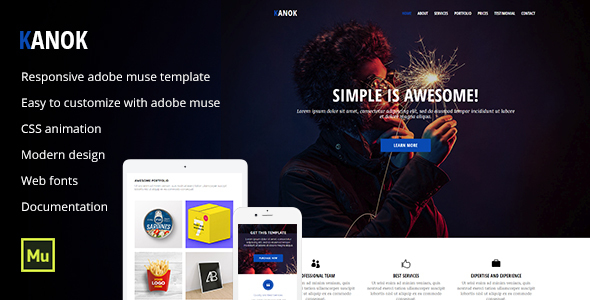 Kanok - Responsive Portfolio Template - Creative Muse Templates