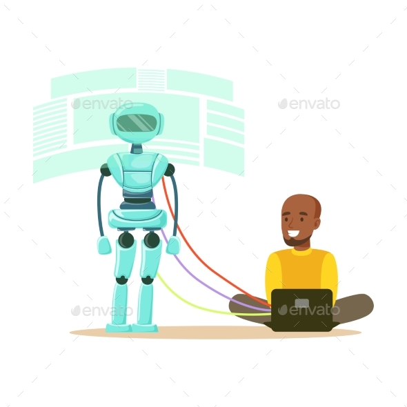 GraphicRiver Young Male Engineer Controlling Visualization 20457134