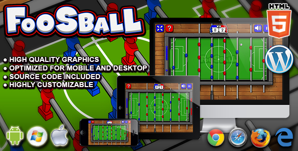 Foosball - HTML5 Sport Game - CodeCanyon Item for Sale