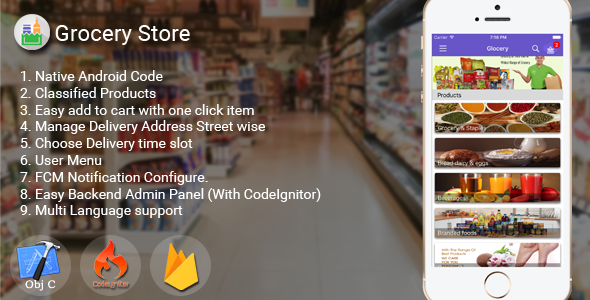 iOS Grocery Store  App - CodeCanyon Item for Sale