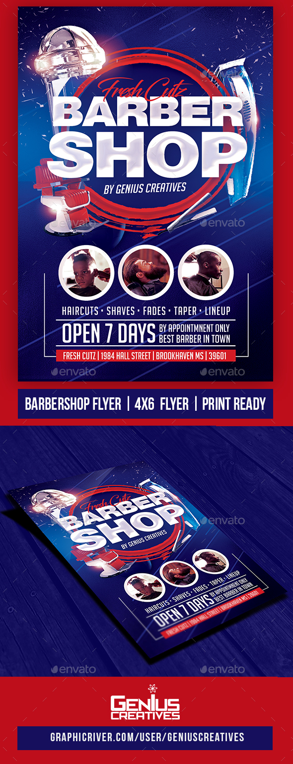 GraphicRiver Barber Shop Flyer 20457245