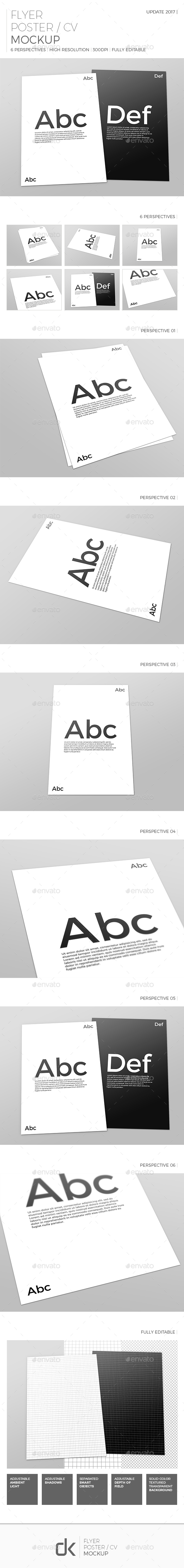 Realistic Flyer/Poster Mockup - Flyers Print
