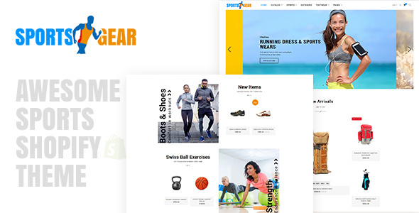 Sports Gear - Sports Shop Shopify Theme - Shopify eCommerce