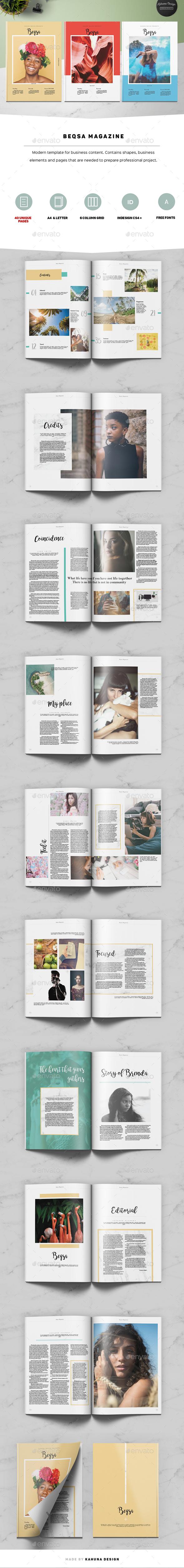 Beqsa Magazine - Magazines Print Templates