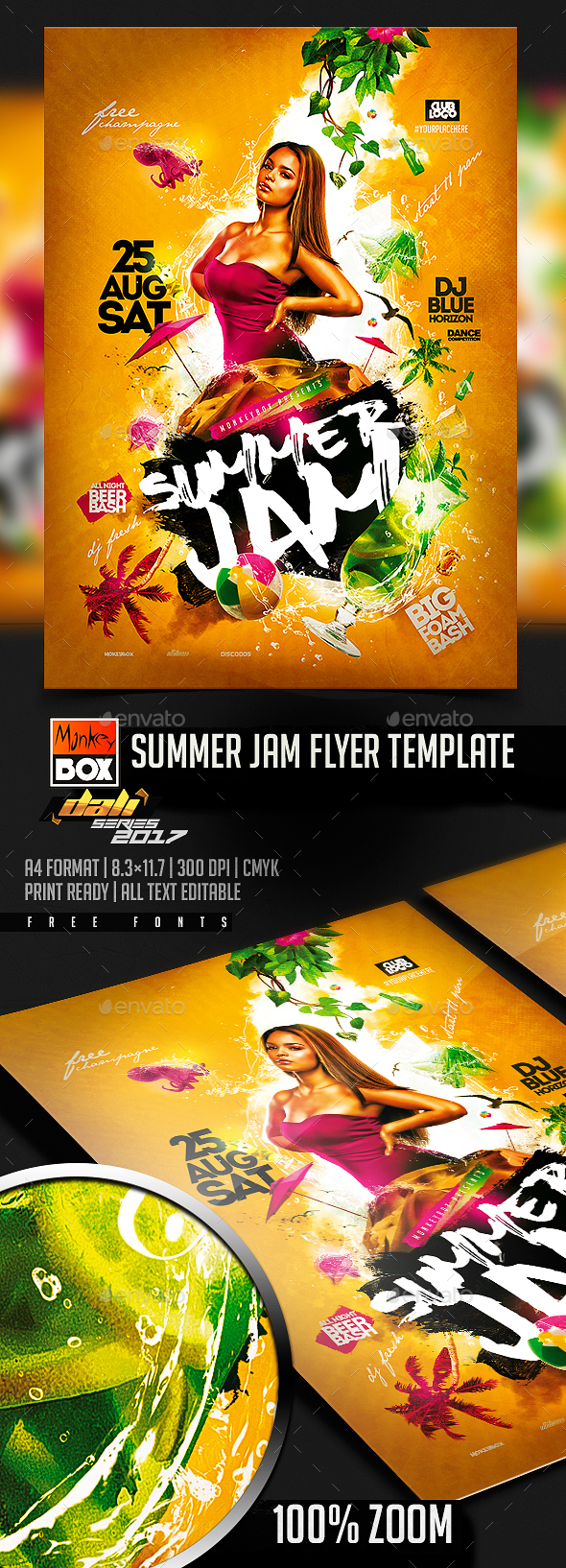 Summer Jam Flyer Template - Flyers Print Templates