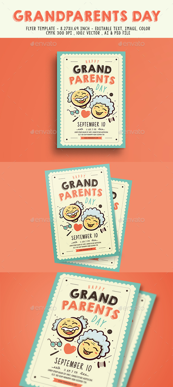 Grand Parents Day Flyer - Events Flyers