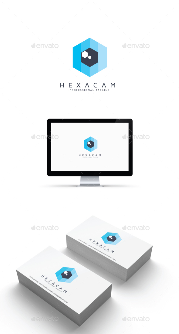 GraphicRiver Hexagonal Camera Logo 20457406