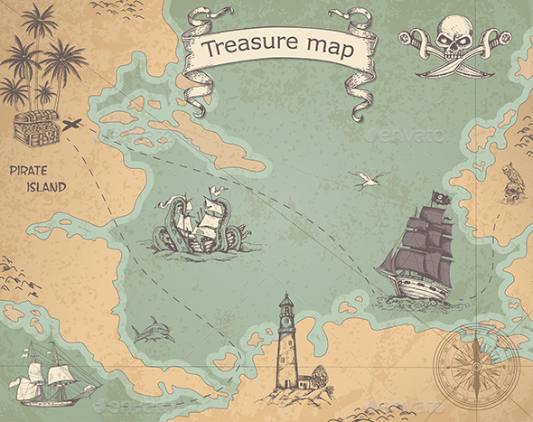 Ancient Treasure Map - Travel Conceptual
