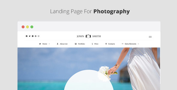Favorite - Landing Page For Photography - Photography Creative