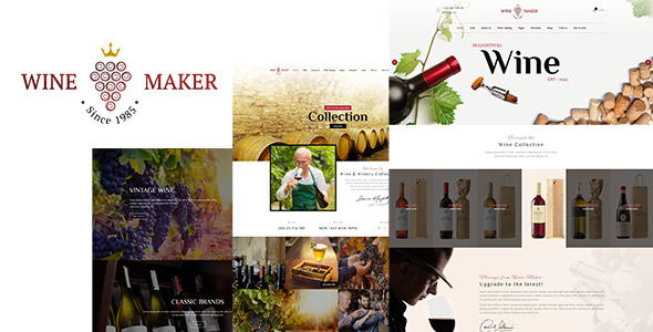 Wine Maker - Wine, Winery Theme - Retail WordPress