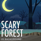 2D Scary Forest Parallax Game Background