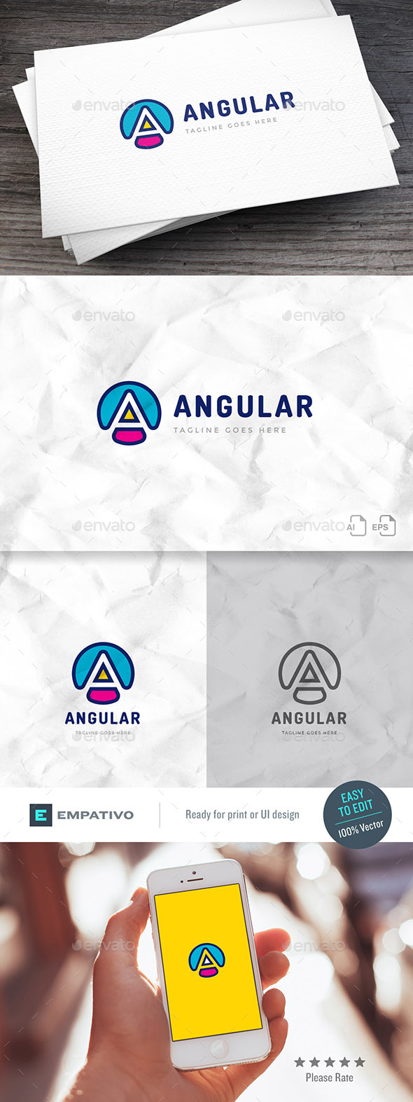 Angular Logo Template - Letters Logo Templates