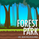 2D Forest Park Parallax Nature Background