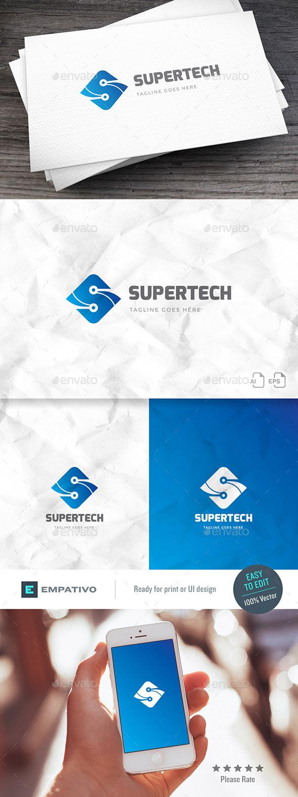 GraphicRiver Supertech Logo Template 20457660