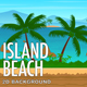 2D Island Beach Parallax Nature Background