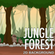2D Jungle Forest Parallax Nature Background
