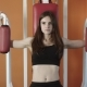 Athletic Girl Is At A Gym - VideoHive Item for Sale