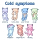 Cold Symptoms. Sick Kittens. - GraphicRiver Item for Sale