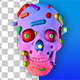 3D Skull Color - 4 Renders