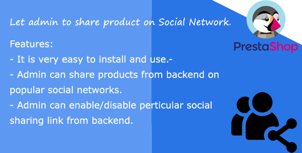 Social Sharing admin prestashop - CodeCanyon Item for Sale