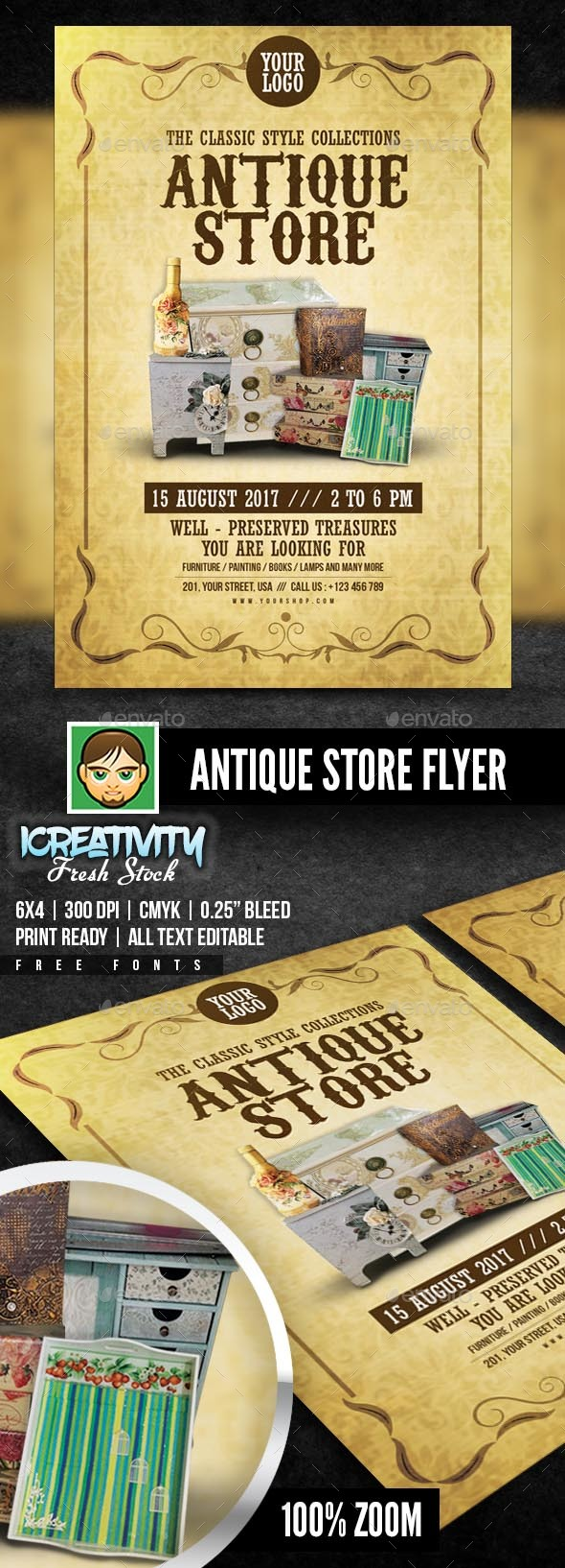 Antique Store - Flyers Print Templates