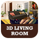 3D Living Room Interior - 3DOcean Item for Sale