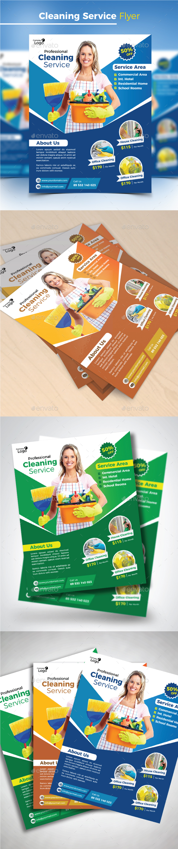 GraphicRiver Cleaning Service Flyer 20458122
