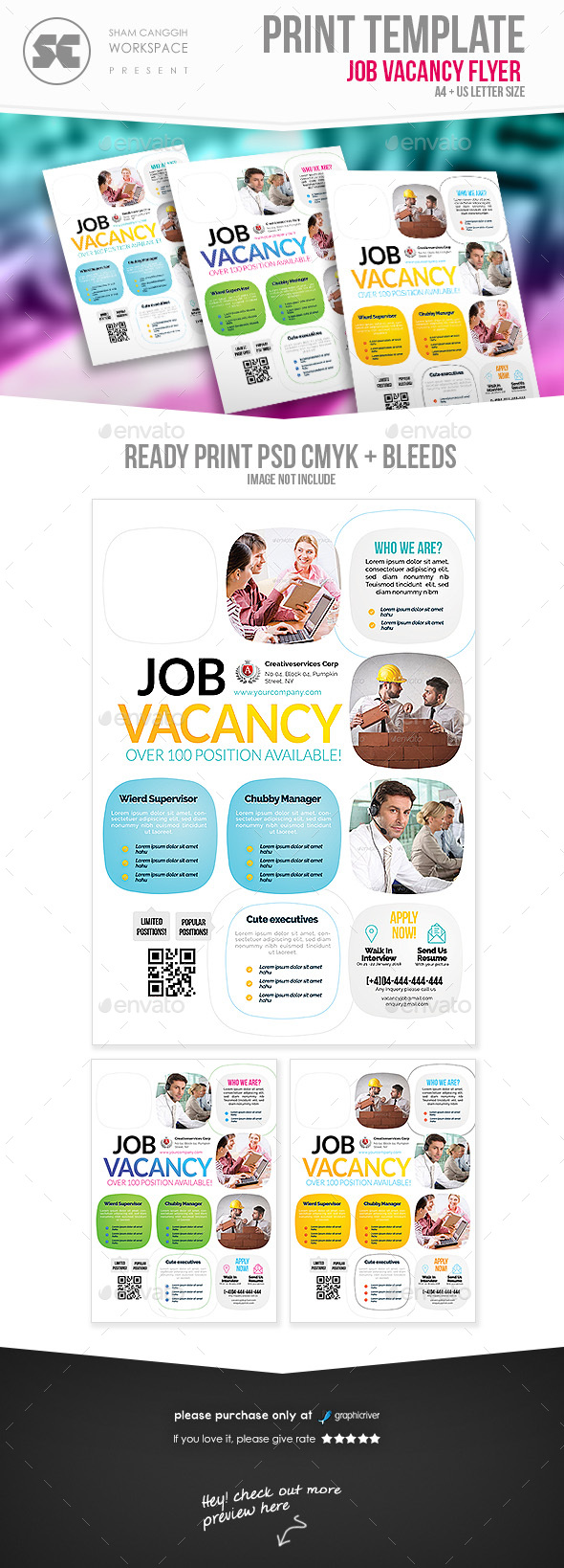 GraphicRiver Job Vacancy Flyer 20458128
